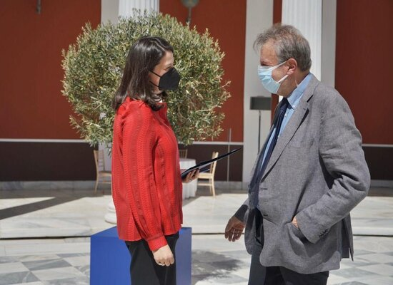 rsz Η Υπουργός Νίκη Κεραμέως και ο Πρόεδρος ΙΕΠ Γιάννης Αντωνίου
